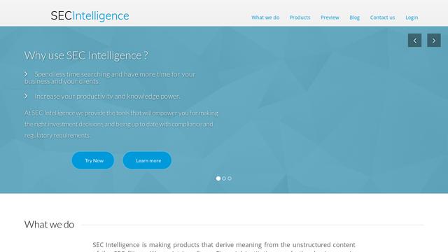 SEC-Intelligence API koppeling