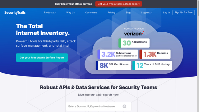 SecurityTrails API koppeling