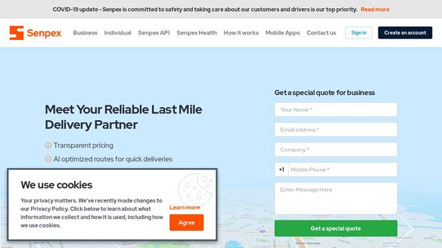 Senpex API koppeling