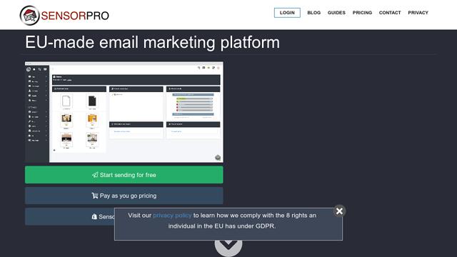 Sensorpro API koppeling