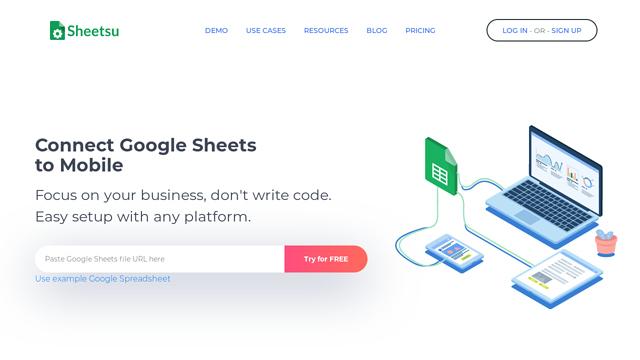 Sheetsu API koppeling
