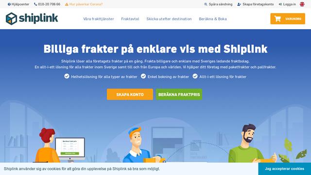 Shiplink API koppeling