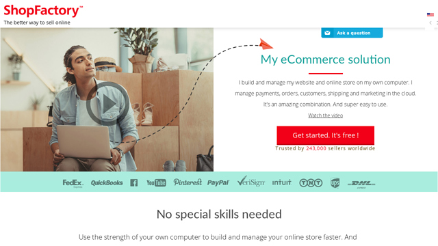 ShopFactory API koppeling