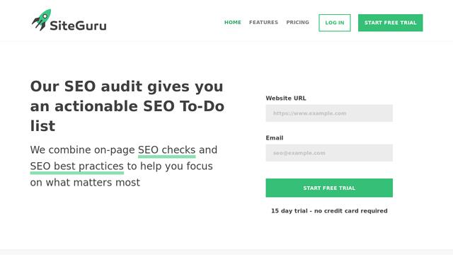 Siteguru API koppeling