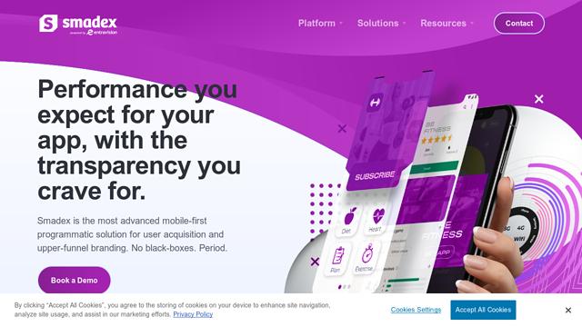 Smadex API koppeling