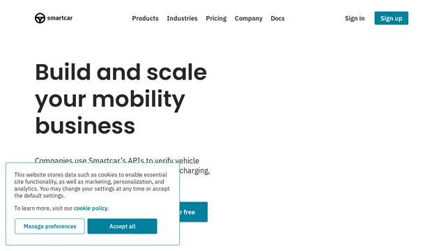Smartcar API koppeling
