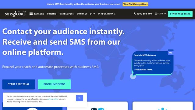 SMSGlobal API koppeling