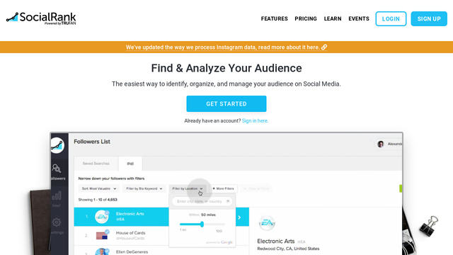 SocialRank API koppeling