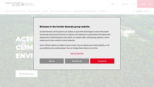 Société-Générale API koppeling