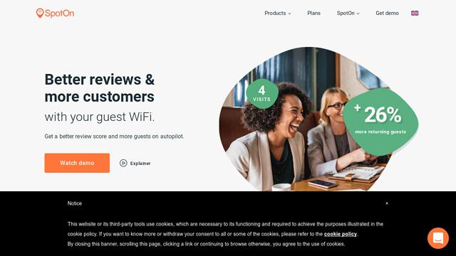 SpotOn-WiFi API koppeling