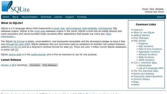 SQLite API koppeling
