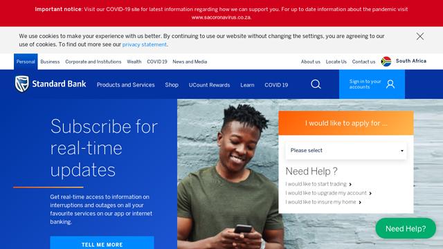 Standard-Bank-South-Africa API koppeling