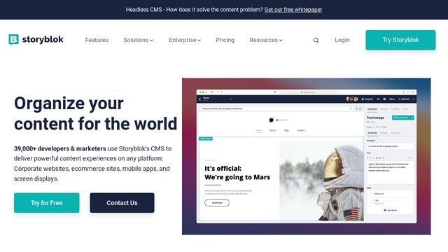 Storyblok API koppeling