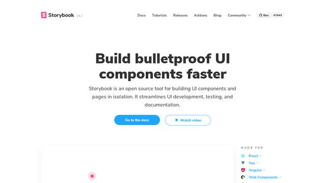 Storybook API koppeling