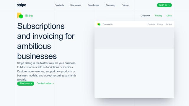 Stripe-Billing API koppeling