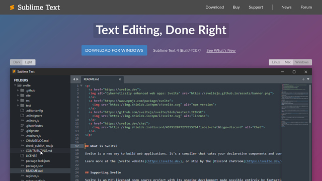 Sublime-Text API koppeling