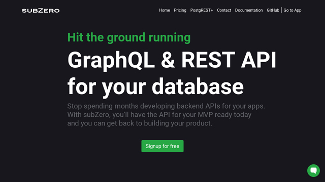 subZero API koppeling