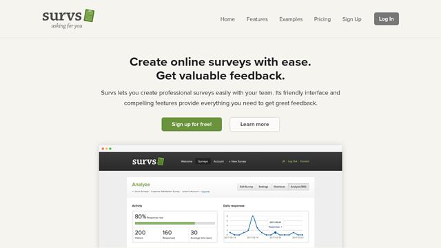 Survs API koppeling