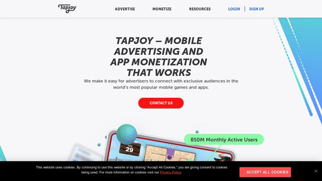 Tapjoy API koppeling