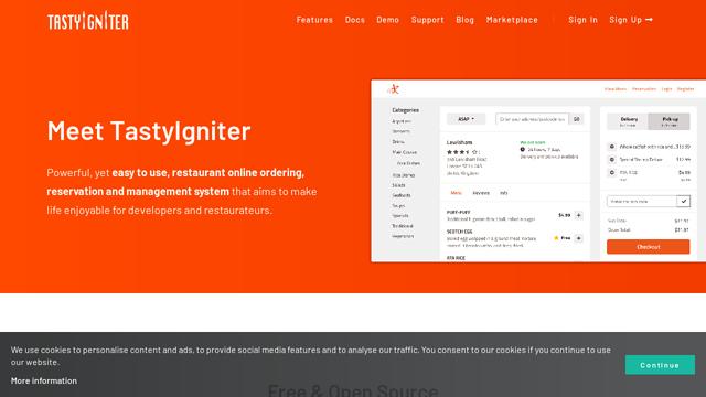 TastyIgniter API koppeling