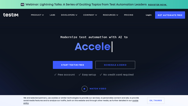 Testim.io API koppeling