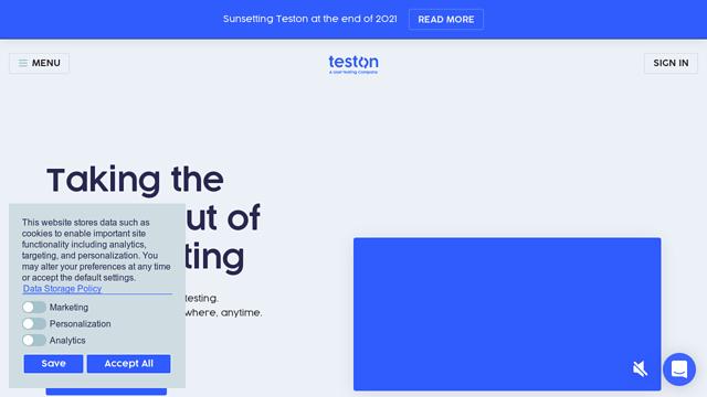 Teston API koppeling