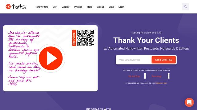 thanks.io API koppeling
