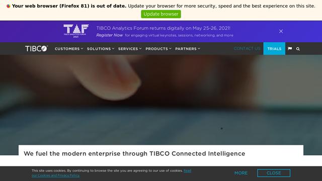 TIBCO-Software API koppeling