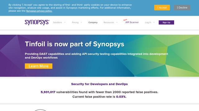 Tinfoil-Security API koppeling