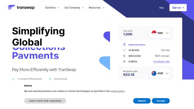 TranSwap API koppeling