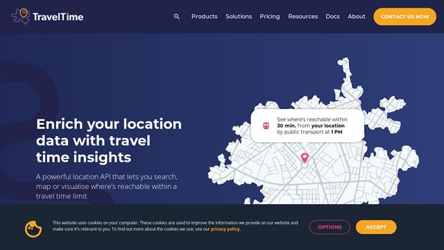 TravelTime-Platform API koppeling