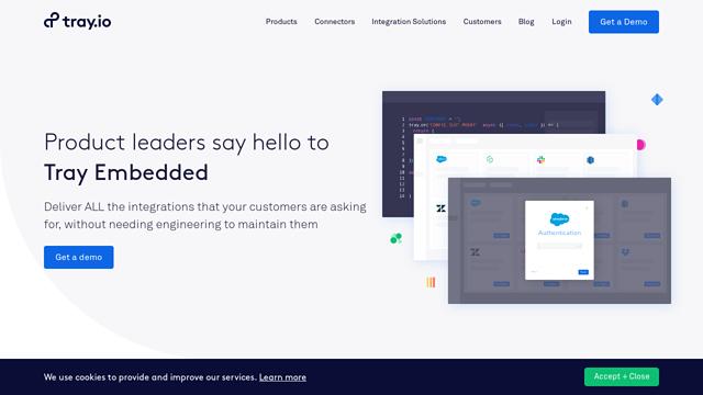 Tray-Embedded API koppeling