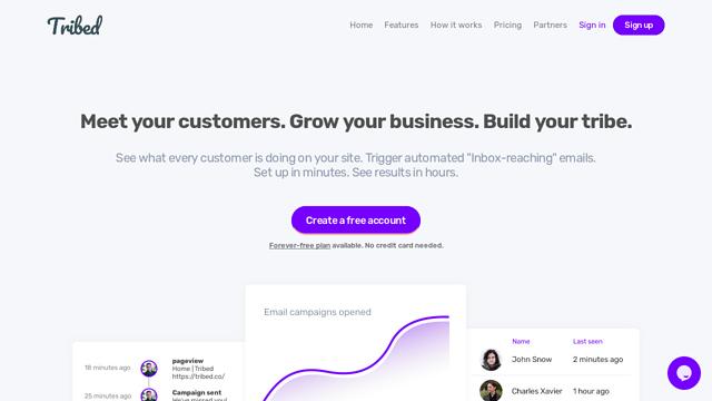 Tribed API koppeling