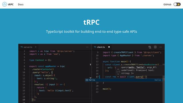 tRPC API koppeling