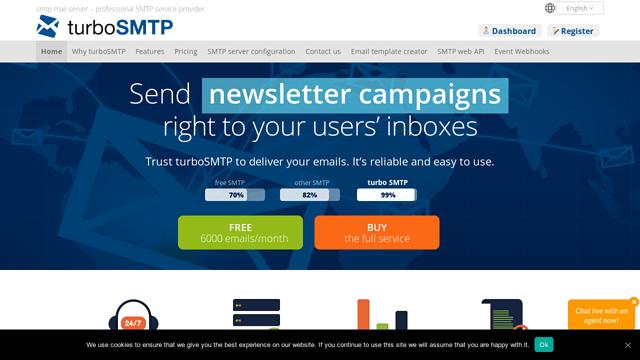 turboSMTP API koppeling