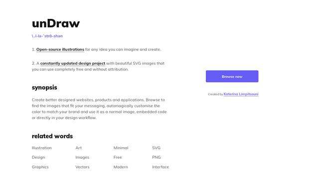 unDraw API koppeling