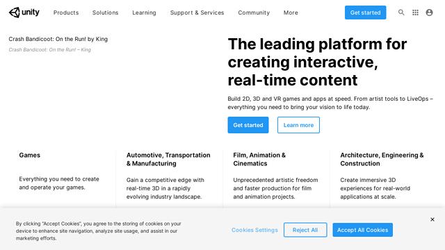 Unity-Technologies API koppeling