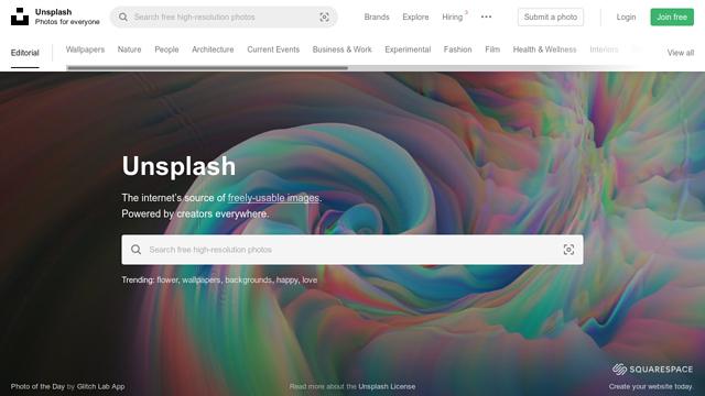 Unsplash API koppeling