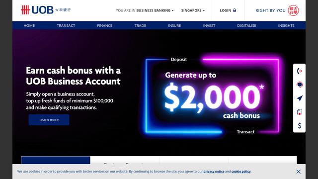 UOB-(United-Overseas-Bank) API koppeling