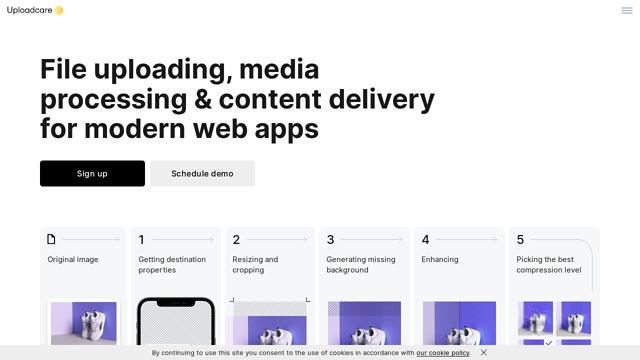Uploadcare API koppeling