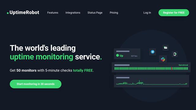 Uptime Robot API koppeling