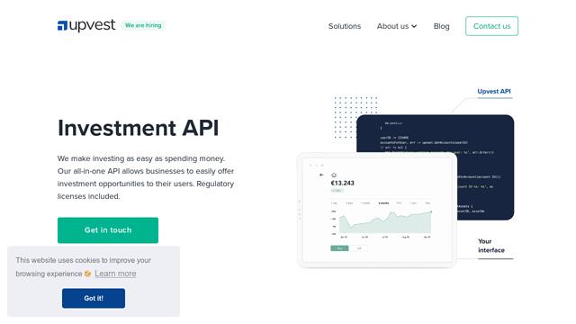 Upvest API koppeling
