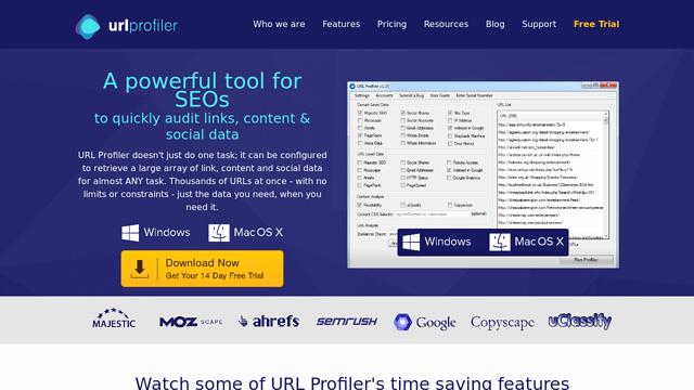 URLprofiler API koppeling