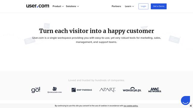 User.com API koppeling