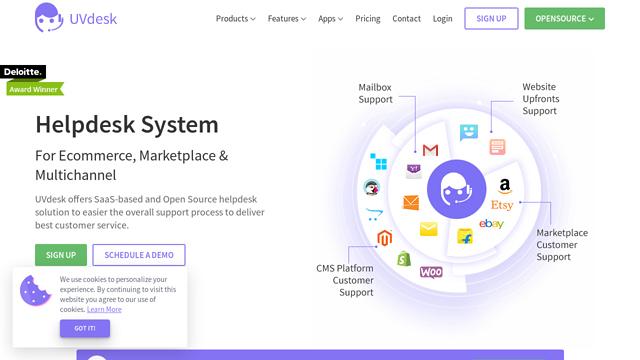 UVdesk-Helpdesk API koppeling