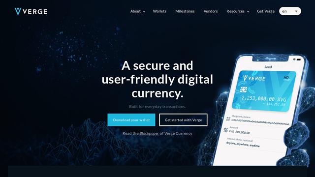 VergeCurrency API koppeling