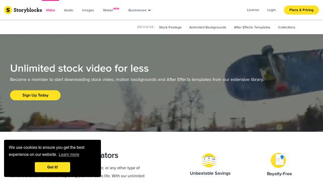 Videoblocks API koppeling