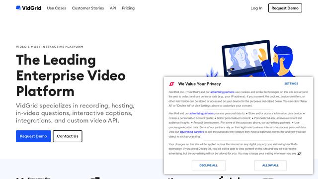 VidGrid API koppeling
