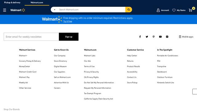 Walmart API koppeling