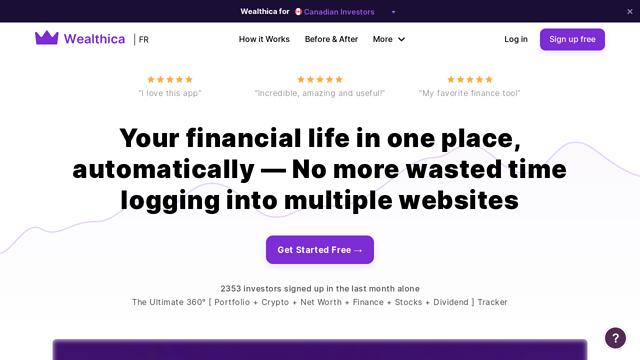 Wealthica API koppeling